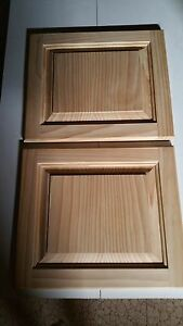 Details about Raised Panel Clear Pine Cabinet Doors for Kitchen Bath