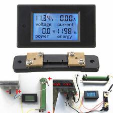 100a Dc Lcd Digital Volt Voltage Kwh Watt Current Power Meter Ammeter Voltmeter