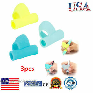 3x-Silicone-Kid-Student-Pencil-Pen-Writing-Grip-Posture-Correction-Finger-Holder