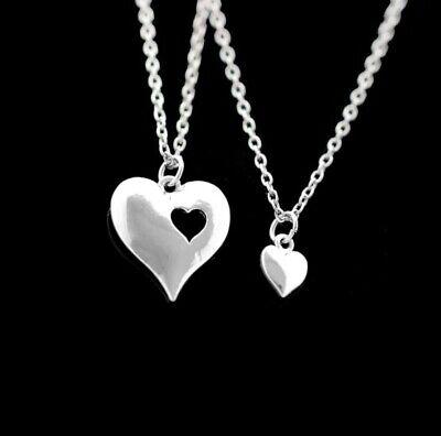 2pcs Pendant Necklace Couples Best Friends Partners Lovers Mizpah Style Matching