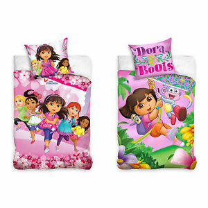 Dora-and-Friends-Nickelodeon-Kinderbettwaesche-Babybettwaesche-Kinder-Bettwaesche