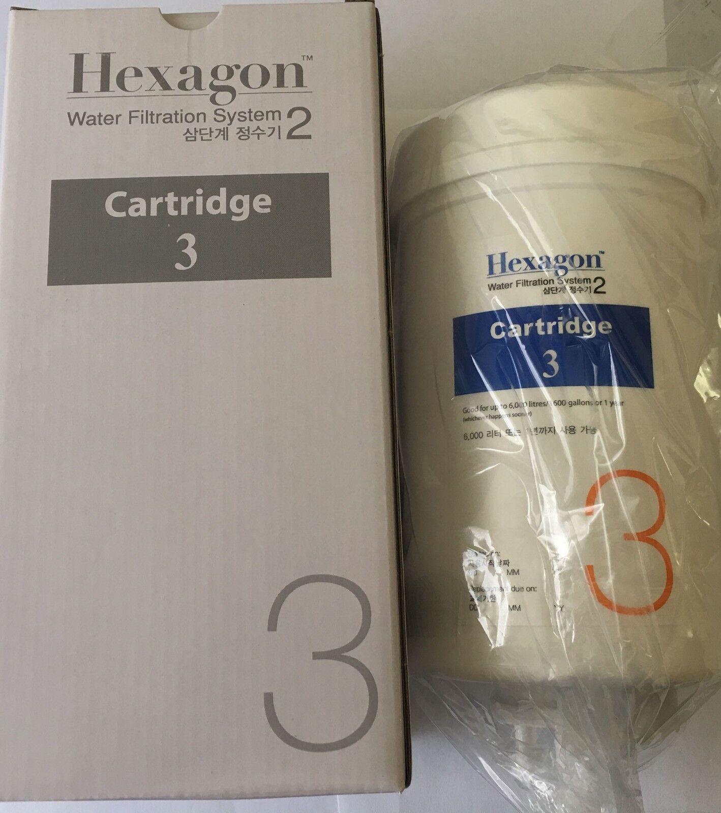 Nouveau Hexagone Alcalin d'hydrogène de filtration d'eau 2.0 V Original Cartouche No.3 Corée