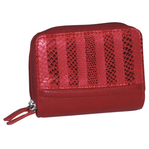 2 colors of Buxton Stripped womens Wizard Wallet Credit Card //ID Window Case