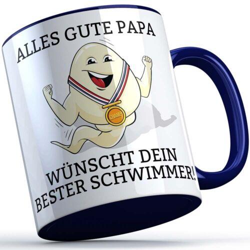 """/""""Alles Gute Papa wünscht dir dein bester Schwimmer/"""" Tasse Geschenkidee für Väter"""