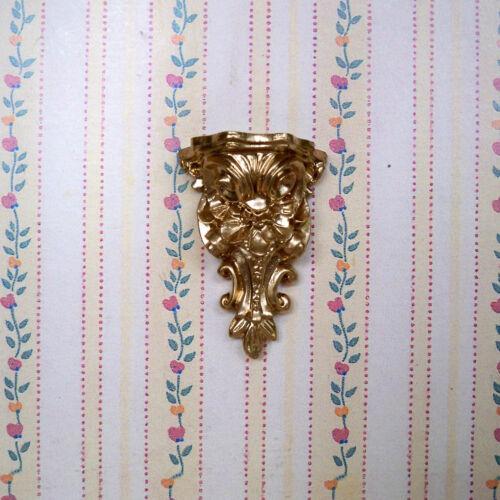 maison de poupée miniature véritable stuc-support mural-or-Handmade 02 1:12