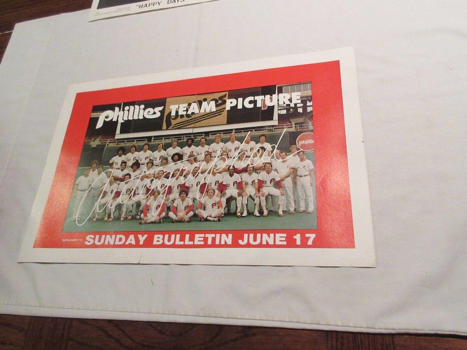 Philadelphia Phillies , Team Picture Poster ,Sunday Bul