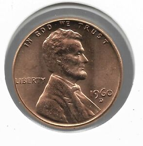 Rare Old 1960D US Lincoln Penny CRACKED SKULL Collection DIE ERROR Cent Coin H17