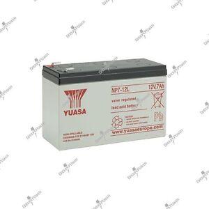 Wasserfeste-bleibatterie-YUASA-NP7-12L-12V-7AH-151X65X97-5mm-Top-qualitaet