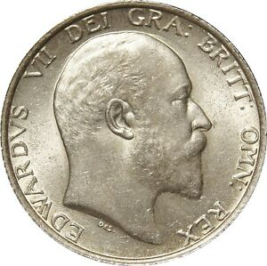1909 Edward VII Shilling Practically Mint struck - Ipswich, United Kingdom - 1909 Edward VII Shilling Practically Mint struck - Ipswich, United Kingdom