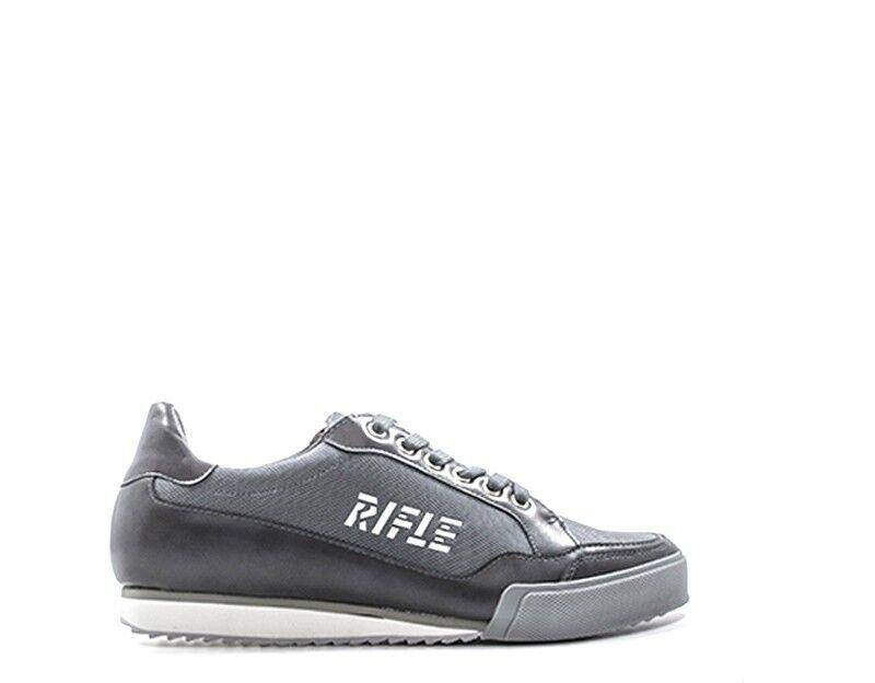 shoes RIFLE men Sneakers trendy  grey PU,Tessuto 181M108-1263