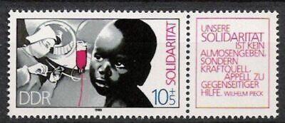 Postfrisch Reich Und PräChtig Ddr 1949-1990 Streng Ddr Nr.3202 Zd B ** Solidarität 1988 Briefmarken
