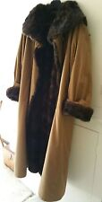 Mink fur lined trench coat/ mac/ overcoat size 12 made in Italy