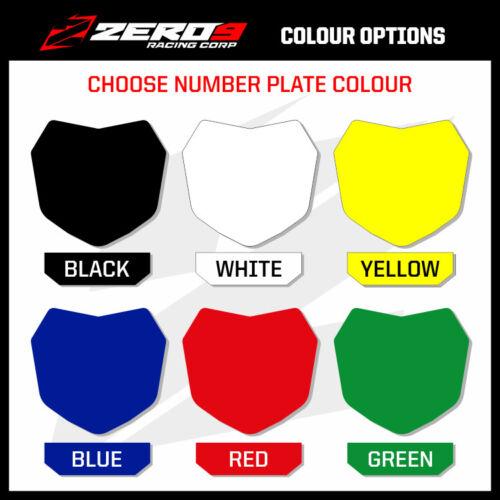 Custom MX Graphics Kit HONDA CR CRF CRF-X CRF-RX 125-450 ROCZEN BLACK