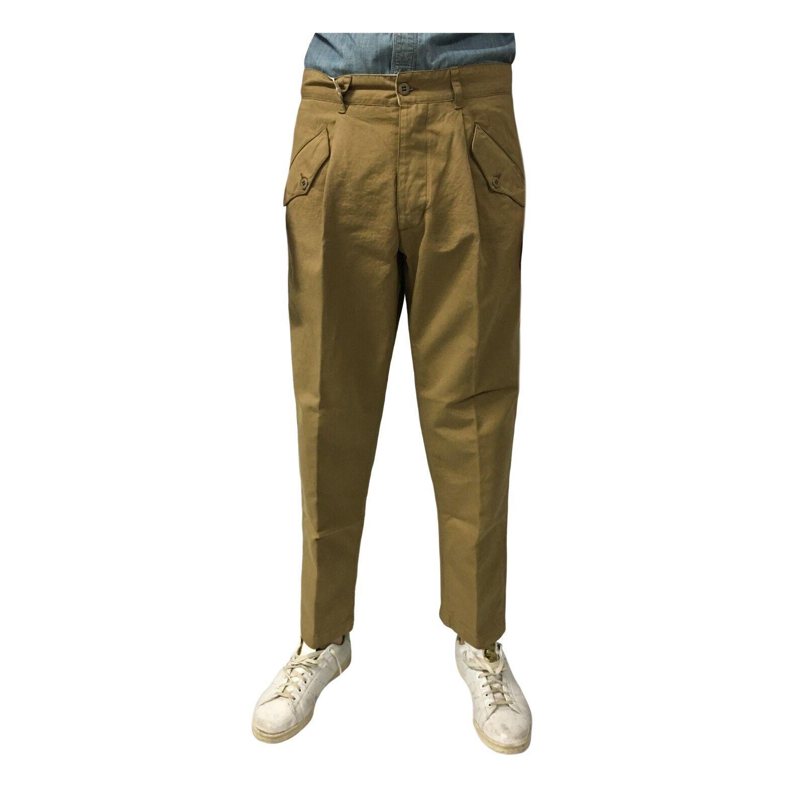 MANIFATTURA CECCARELLI men's trousers camel 6518 76% cotton 24% linen