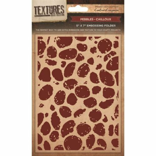 """Cardmaking Free UK p/&p Crafters Companion TEXTURES 5x7/"""" EMBOSSING FOLDERS"""