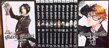 Black Butler Series English Manga Collection Set 1-12 by Yana Toboso BRAND NEW!