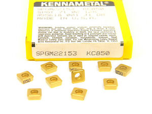 10-NEW-SURPLUS-KENNAMETAL-SPGM-2-21-53-GRADE-KC850-CARBIDE-INSERTS