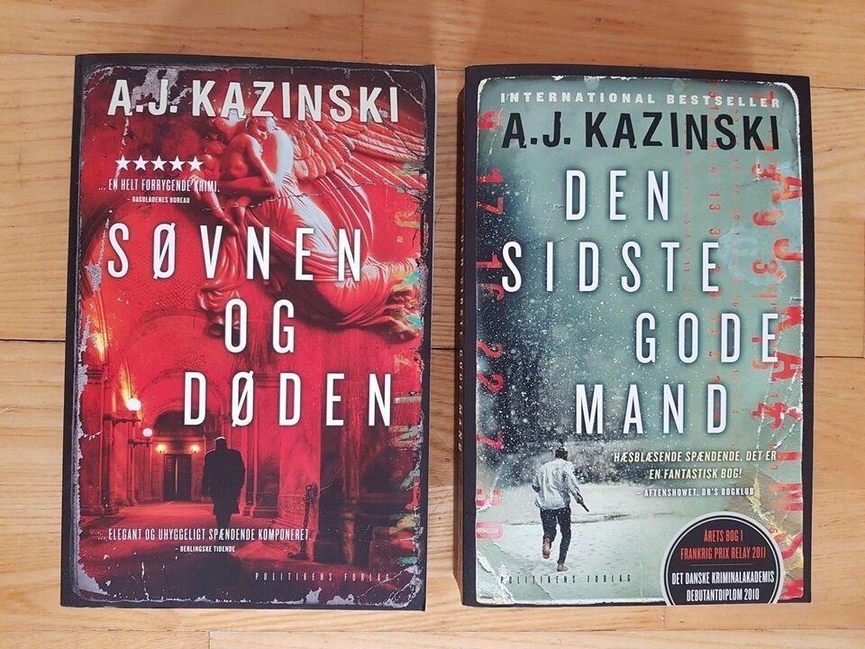Den sidste gode mand, A J Kazinski, genre: krimi og spænding