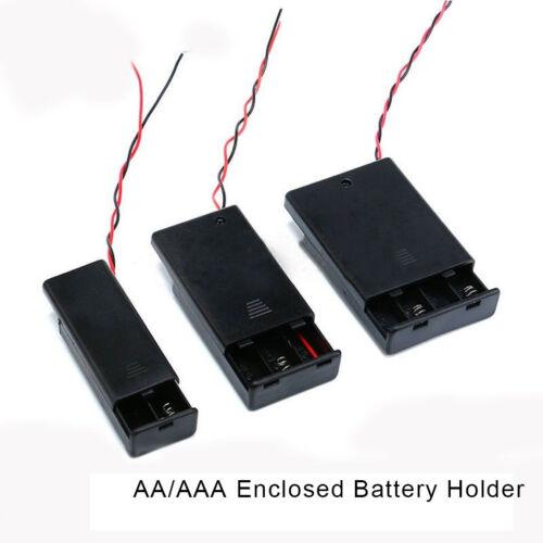 1//5 AAA avec fils d/'interrupteur 10PCS Support de boîte de batterie fermé AA
