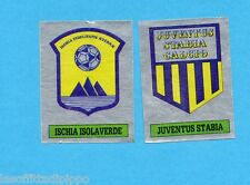 PANINI CALCIATORI 1985/86 -FIGURINA n.615- ISCHIA ISOLAV.+JUVE STAB-SCUDETTO-Rec