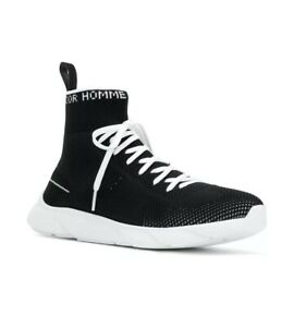 703f3e21591 New Dior Homme Technical Knit Black Sock B21 Trainer Sneakers 41EU ...