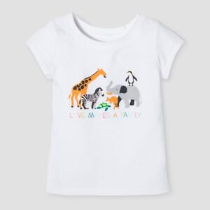 780dd79a Infant Girls' Love Makes a Family Animals Graphic White T-Shirt Cat ...