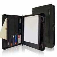 Case Cover For Apple Ipad Air 1 2 Padfolio Notepad Holder Pocket Black Khomo