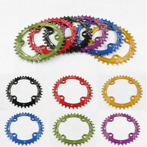 30-42T BCD104 Chainring Mountain Bike Narrow Wide Round Oval AL7075 Chainwheel