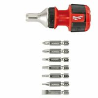 Milwaukee 48-22-2320 Compact 8in1 Ratchet Multi Bit Driver on sale