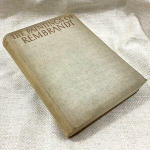 1937-Raro-Prima-Edizione-Libro-The-Dipinti-Di-Rembrandt-Illustrato-Art-History