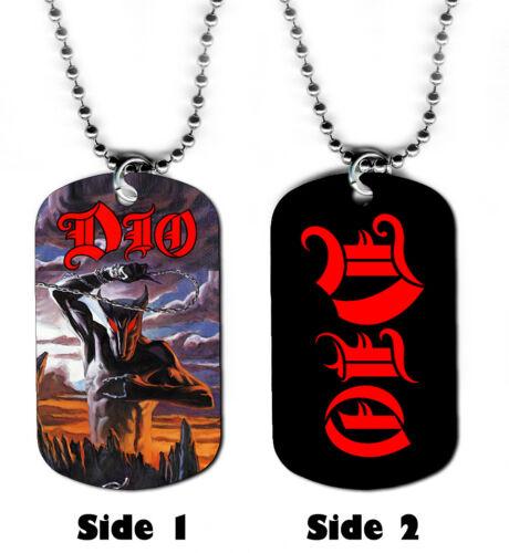 Dog Tag Collier-Ronnie James Dio Logo #S2 Diable Cornes du rock métal Sainte diver