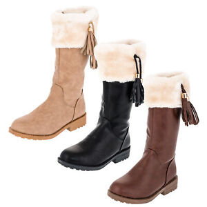 the best attitude 32d7d 580e6 Details zu Warm gefütterte Mädchen Stiefel Winter Schuhe Boots Stiefeletten  Reißverschluss