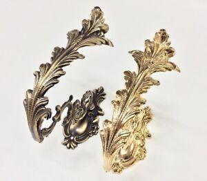 Embrasse-Rideau-Laiton-or-Bronze-Classique-Frise-Attaches-Dos-Soutien-Tentes