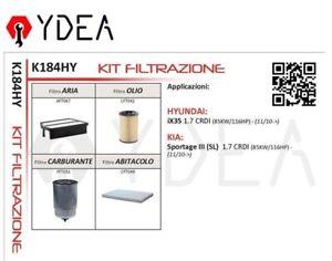 Inspektionskit Filter Hyundai Ix35 Kia Sportage III (Sl ) 1.7 Crdi - Ydea K184HY