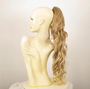 Haarteil-Pferdeschwanz-lange-lockig-hellblonde-Docht-blonde-klar-65-cm-10-15t613