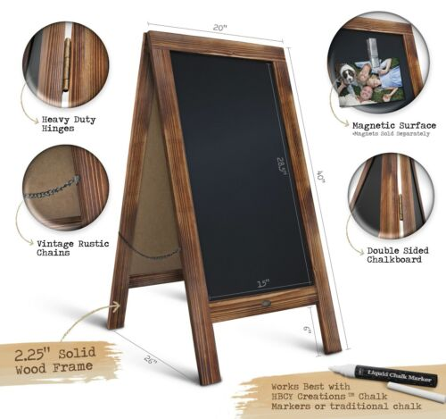 Rustic Magnetic A Frame Chalkboard Sign Extra Large 40 X 20 Free Standing