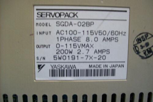 Yaskawa SGDA-02BP//  USED Servopack