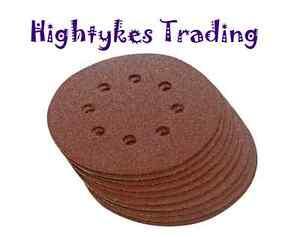 sanding discs x 10 hook loop abrasive disc pads 115 125 150 225 8 hole