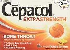 Cepacol Max Numbing Sore Throat Lozenges Honey Lemon 16 Ct (12 Pk)+ Makeup Spong