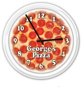 Pizza-Personalized-Custom-Wall-Clock-Pizzeria-Parlor-Restaurant-GIFT