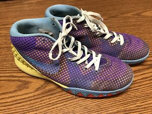 pretty nice d8ae7 7c281 Nike 717219-700 Kyrie 1 Saturdays Purple Yellow Red Athletic ...