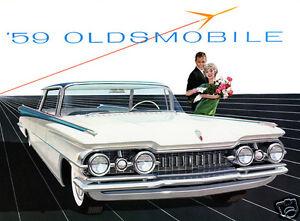 1959 Oldsmobile Ninety Eight Hardtop 98 Whiteblue Refrigerator