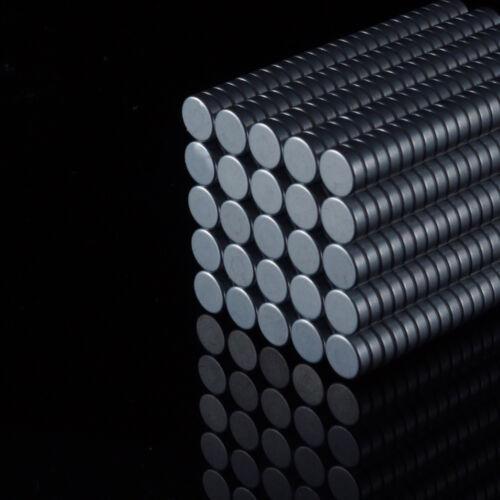 100x Neodym Scheiben Magnete Ø6 x 2 mm N45 680g Haftkraft NdFeB D6x2 mm rund