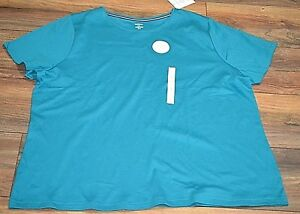 Croft-amp-Barrow-Classic-Tee-Crew-Neck-Short-Sleeve-Top-Tee-Teal-T-Shirt