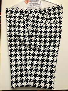 Mens-Loudmouth-Black-White-Flat-Front-Golf-Shorts-Size-38