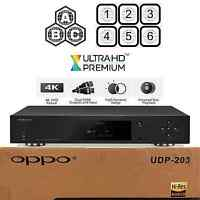 Oppo Digital Udp-203 Region Free 4k Ultra Hd Uhd Hdr 3d Blu-ray Dvd Player