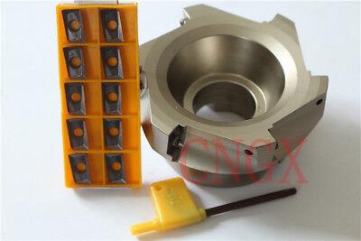 1P New 6F Face Milling Cutter BAP 400R-100-32-6T+10PCS APMT1604 Insert