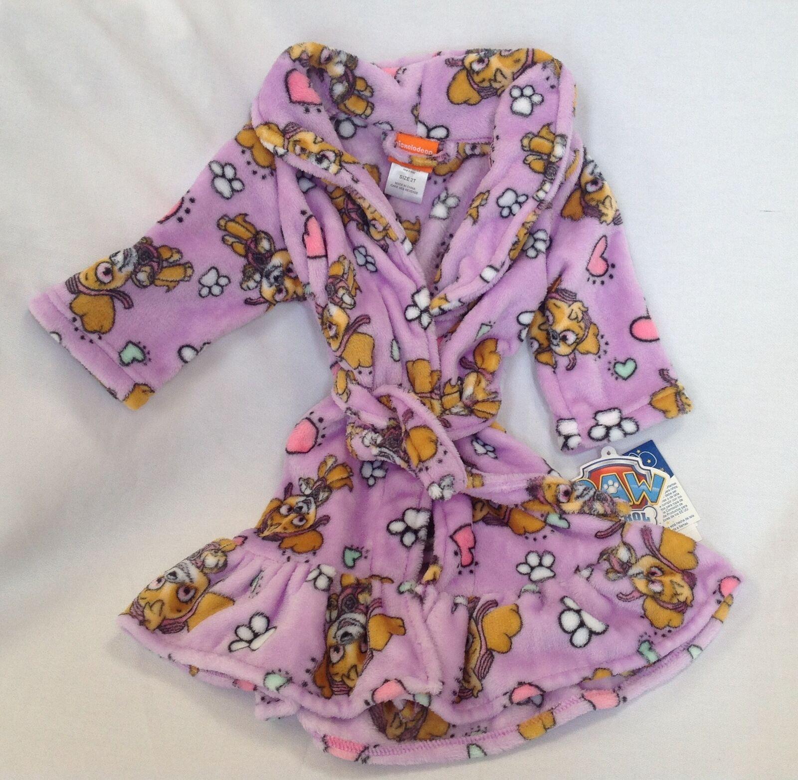 Nickelodeon Girls Toddler Paw Patrol Luxe Plush Robe