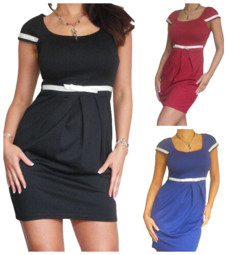 Ladies Bodycon Mini Dress Work Business Size 8 10 12