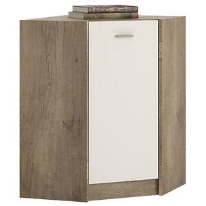 Ferrer Grey Oak Effect Corner Cupboard / Cabinet 60.9cm 60.9cm 85.4 ...